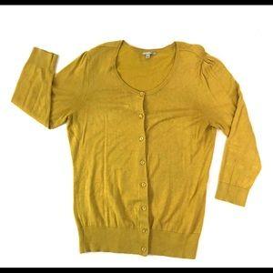 Halogen Yellow Cardigan Sweater